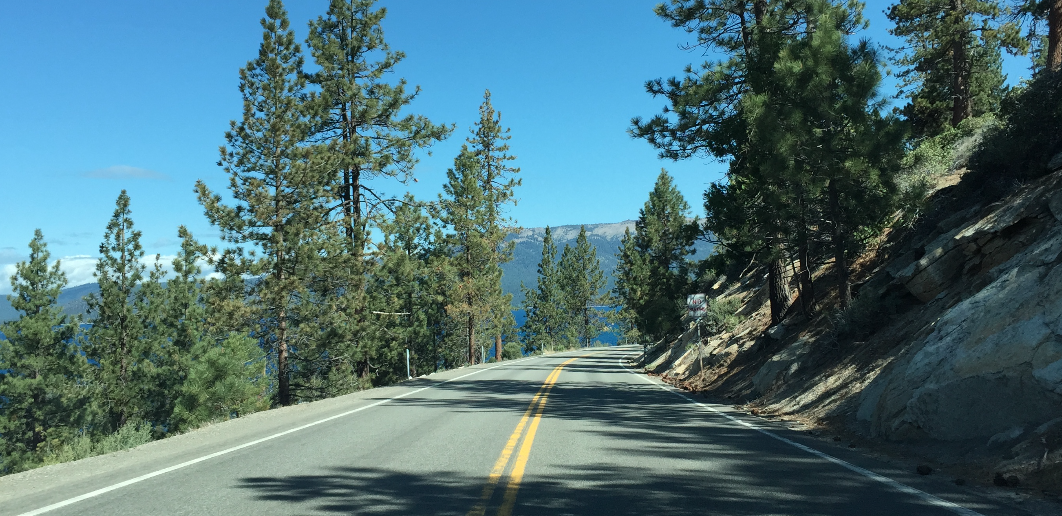 Road to Lake Tahoe